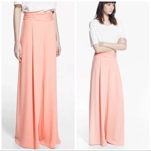 Mango Wide Leg Palazzo Trousers High Waisted NWT